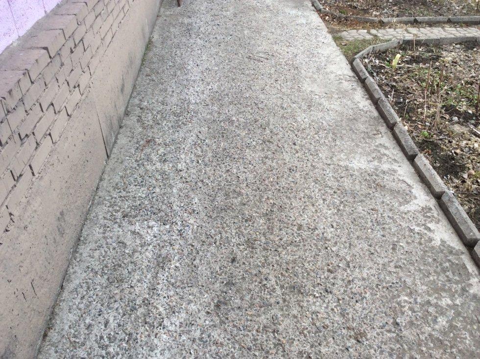выщербленный бетон