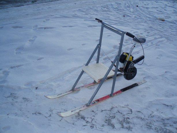 на лыжах на рыбалку