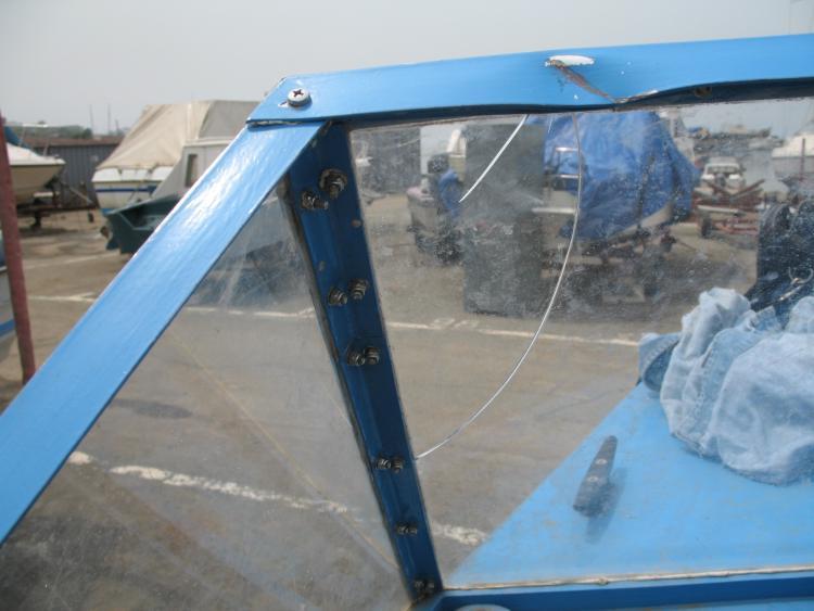 Лобовое стекло для лодки своими руками 283