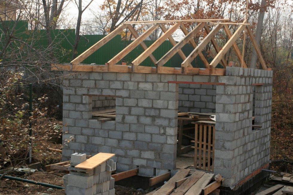 Построить баню из блока своими руками