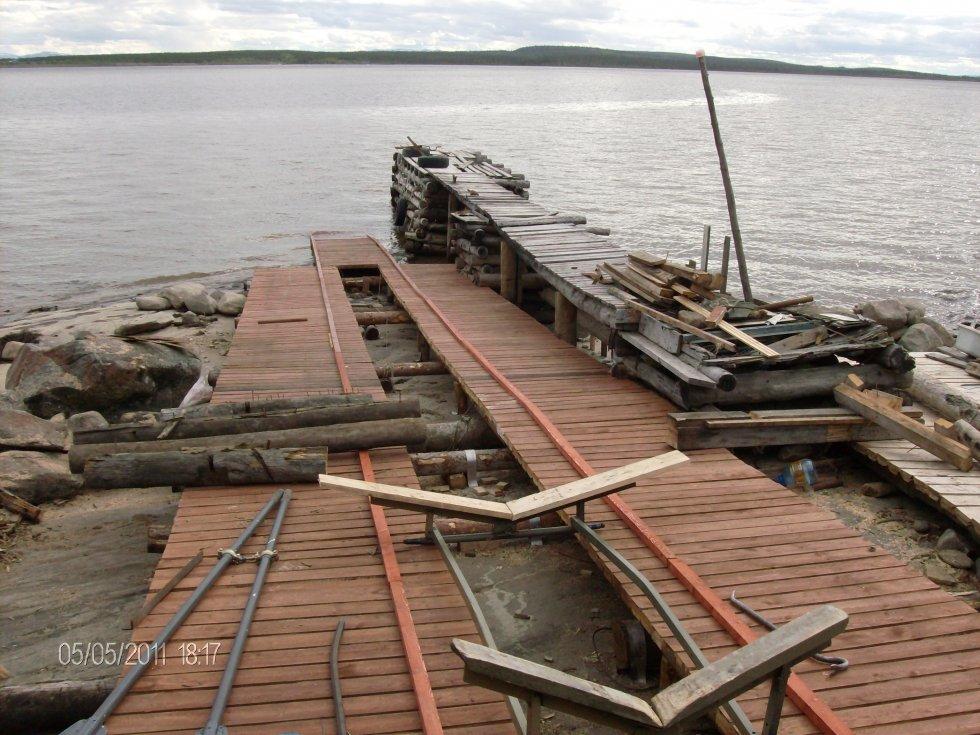 Строительство слипов для спуска лодок, катеров