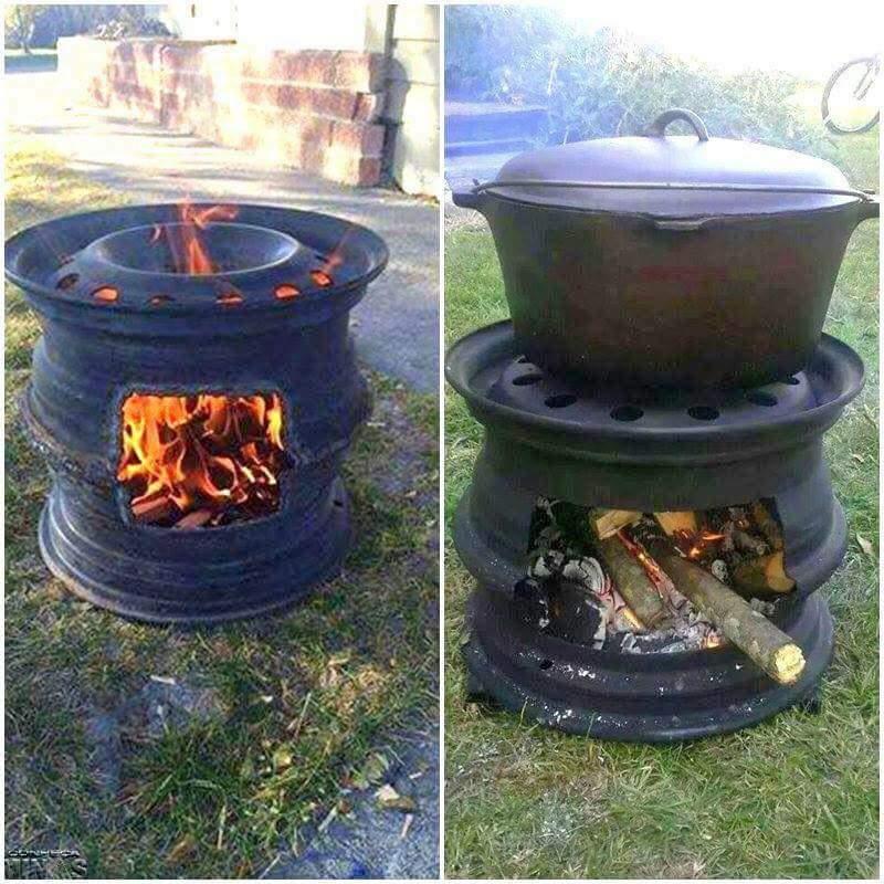 Печка в саду своими руками фото