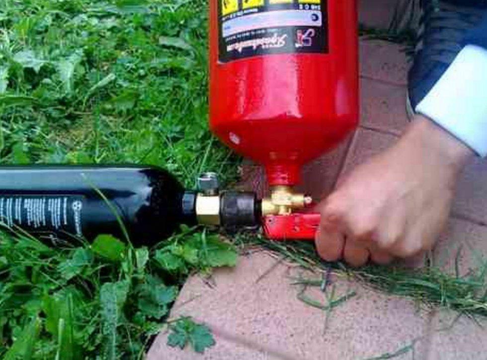 Огнетушитель углекислотный заправка своими руками