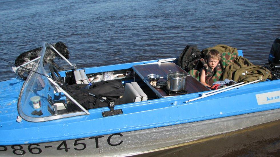 лодка казанка с двумя моторами