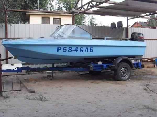 перевозка лодки обь на прицепе