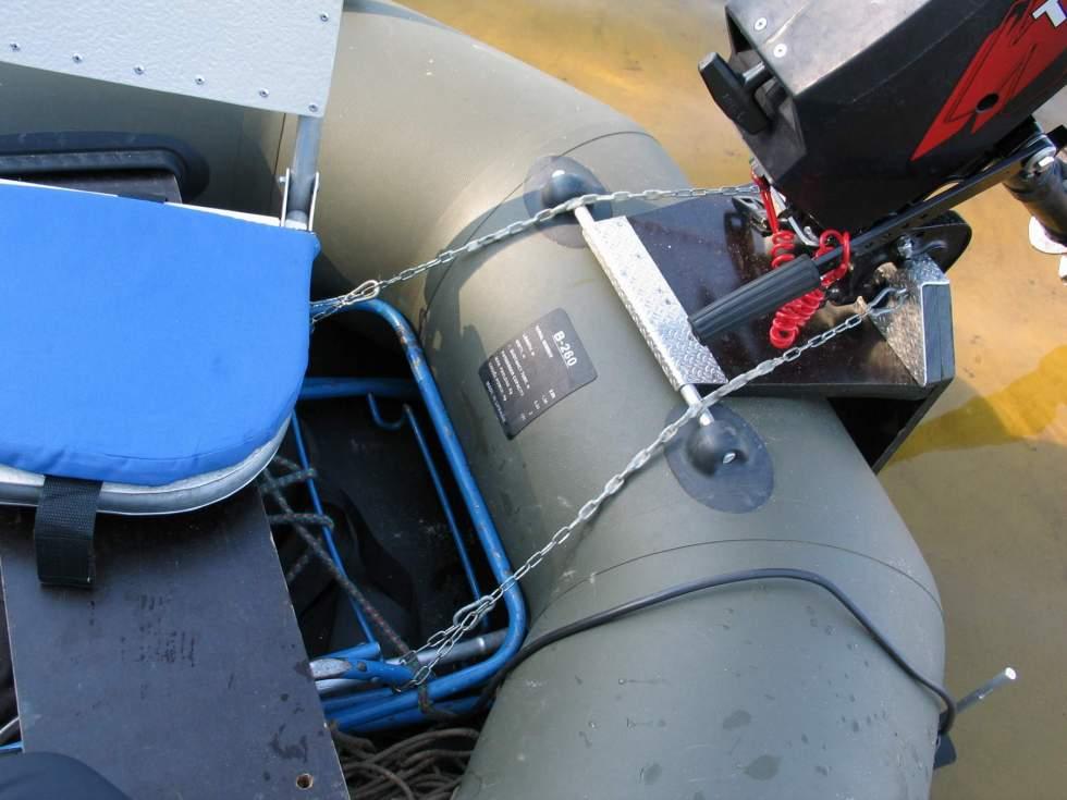 крепление навесного оборудования на лодку пвх