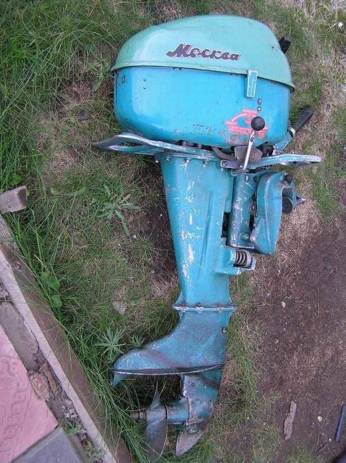 москва 30 лодочный мотор с электростартером