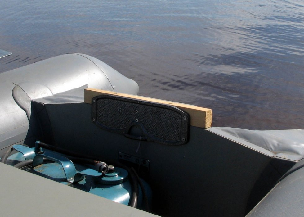 брызгоотбойник на транец пвх лодки своими руками