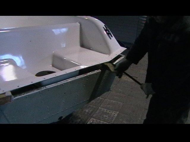 ремонт киля на дюралевой лодке