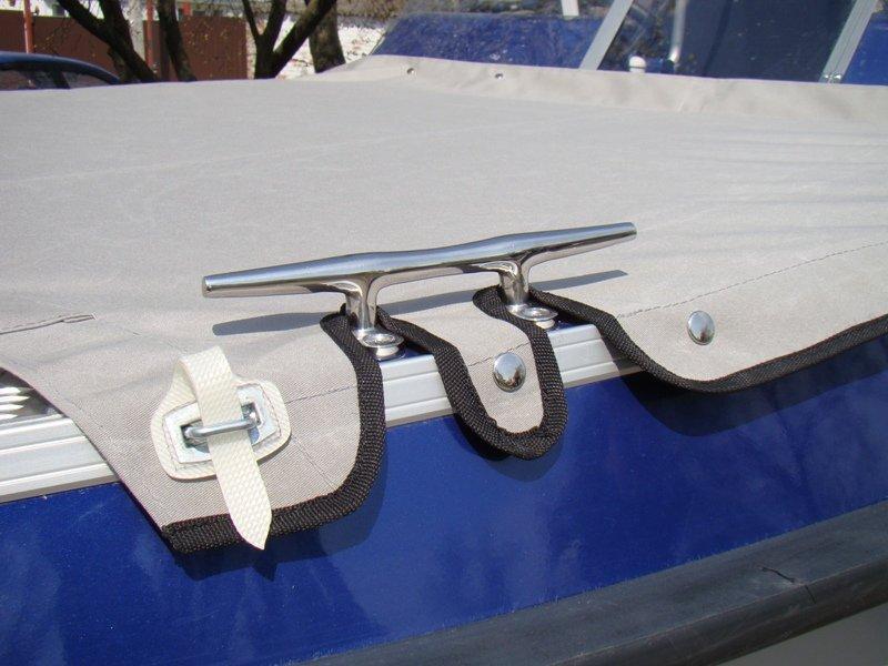крепеж тента на лодке