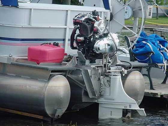 мотор для лодки из мопеда