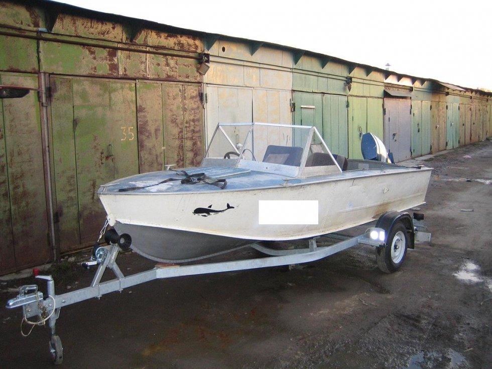 Фото лодки прогресс на тележке