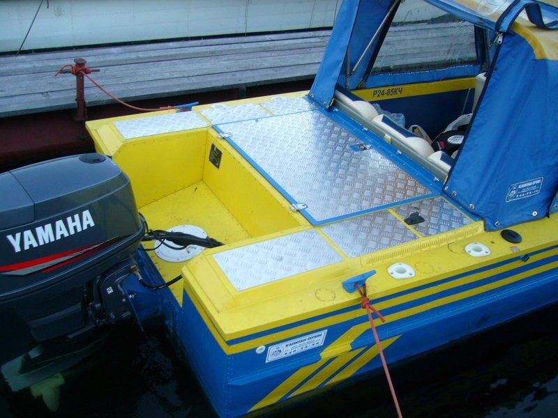 доработка лодок с навесным транцем