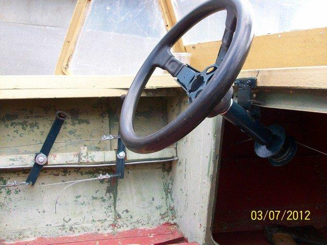 как сделать рулевое управление на лодку казанка