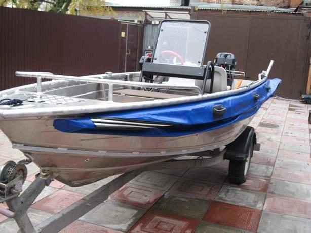 Лодка пластик дно борт баллон пвх