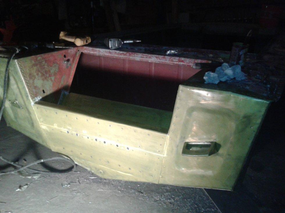 видео клепка лодки