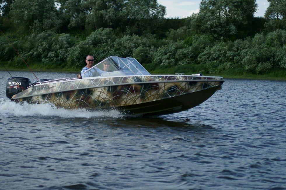 лодка цвет камыш