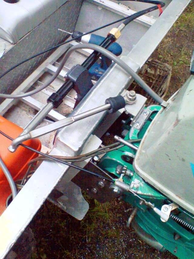 Дистанционное управление лодочным мотором тохатсу своими руками