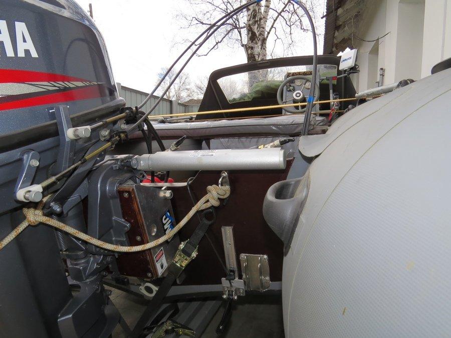 газ реверс на лодку установка