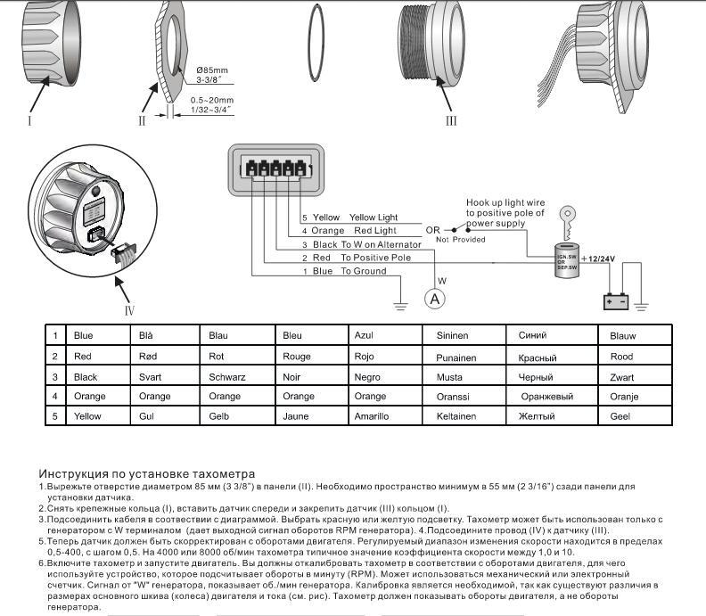 инструкция по эксплуатации тахометра для лодочного мотора