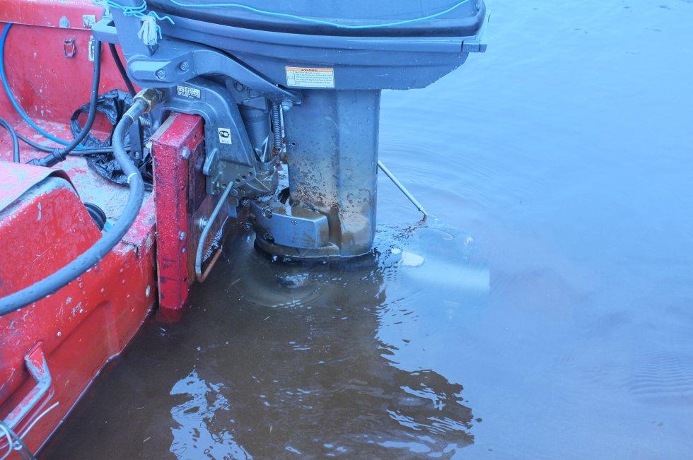 прохват мотора на лодке пвх