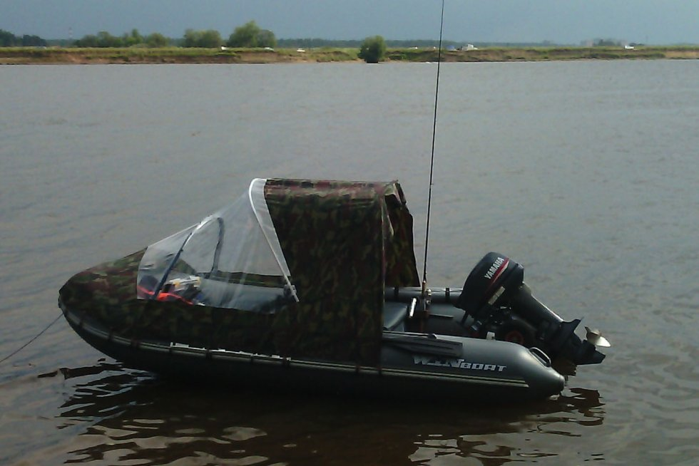 Тент в лодку пвх своими руками