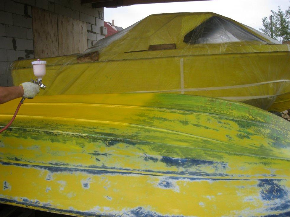 Чем покрасить лодку железную