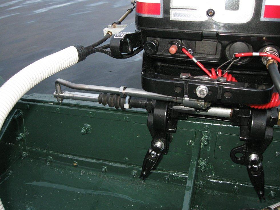 Как не уставать за румпелем Дистанционное управление для лодочного мотора