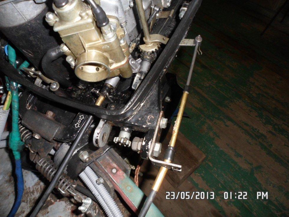 троса газ реверс к лодочному мотору