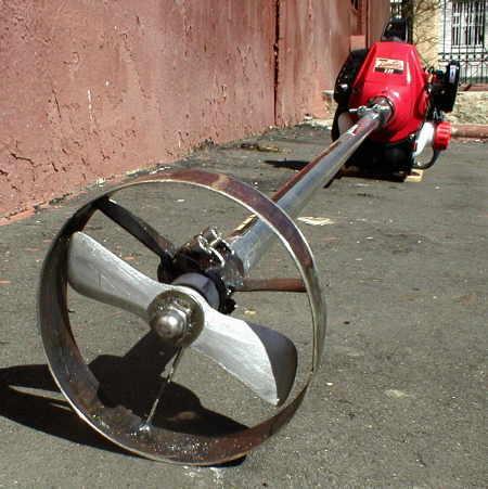 Электротриммер для лодочного мотора своими руками
