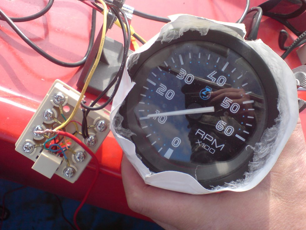 провода для подключения тахометра. на лодочный мотор