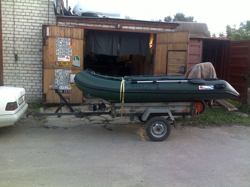 Как переделать прицеп для перевозки лодки пвх