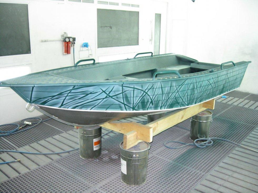 как окрасить надувную лодку