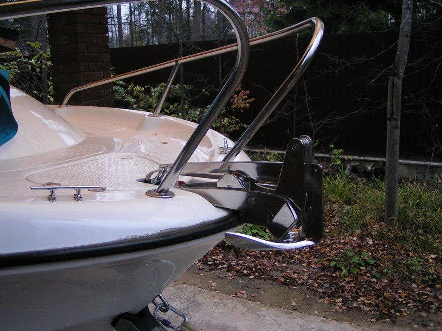 как укрепить стопанкер бери  лодке пвх