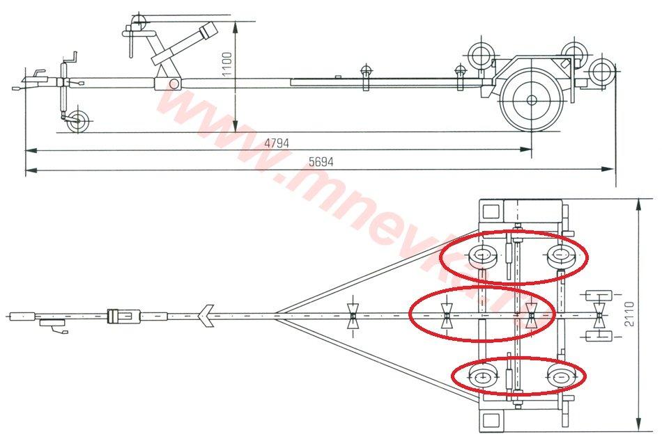 Схема прицепа для лодки