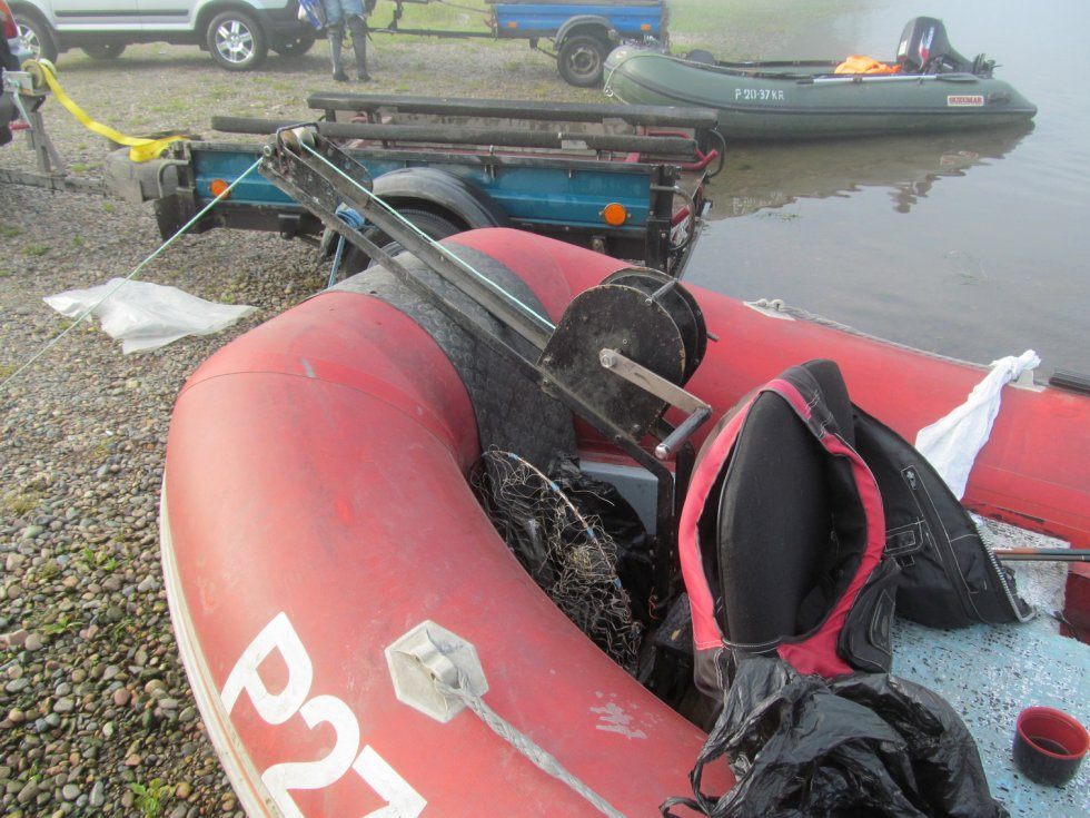установка якорной лебедки на лодку пвх