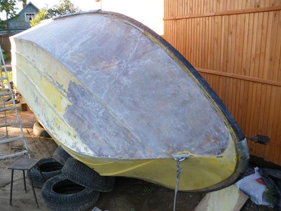 Ремонт лодки из стеклопластика своими руками 40
