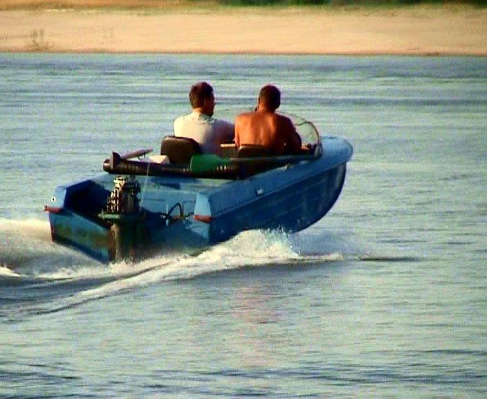 установка мотора с оки получи и распишись лодку
