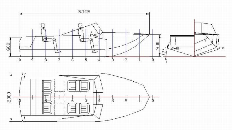 Чертеж лодки казанка 5м4