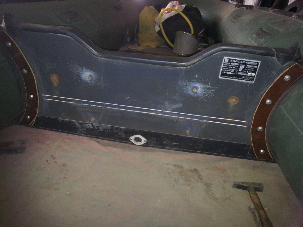Замена транца на лодке пвх в твери