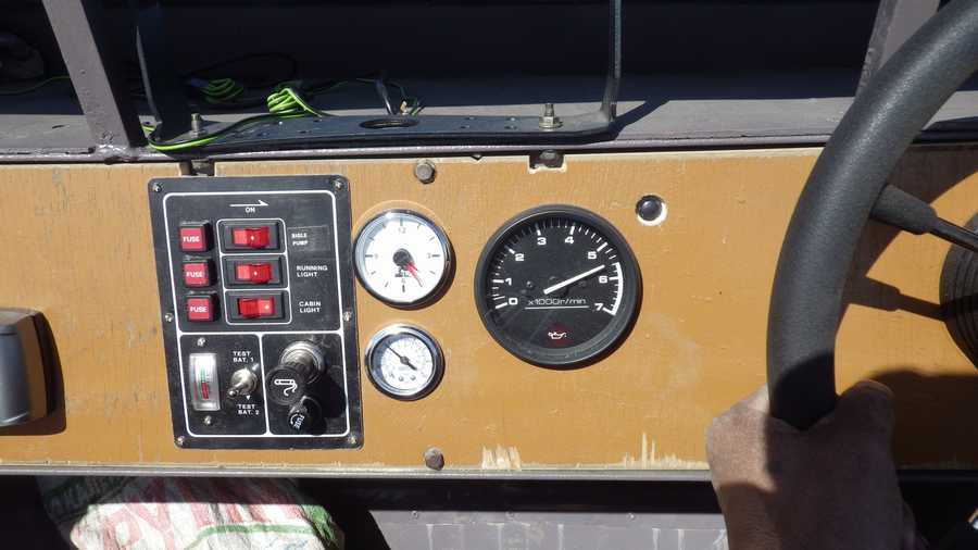 Приборная панель лодок