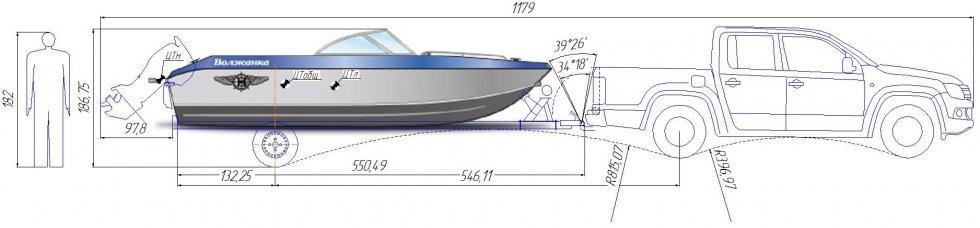 волжанка лодка габариты