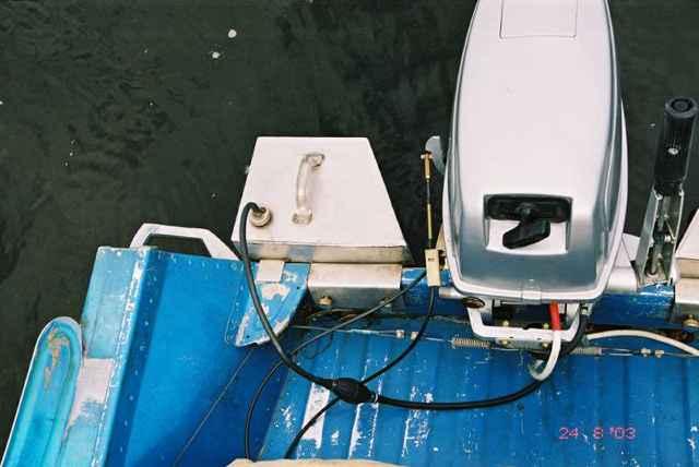 как поставить на лодку стационарный мотор