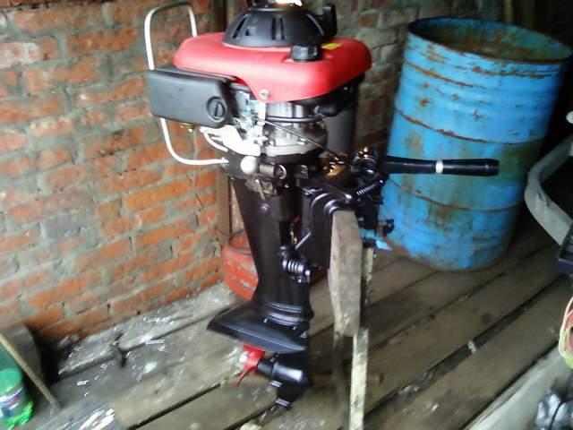 лодочный мотор с китайским двигателем своими руками