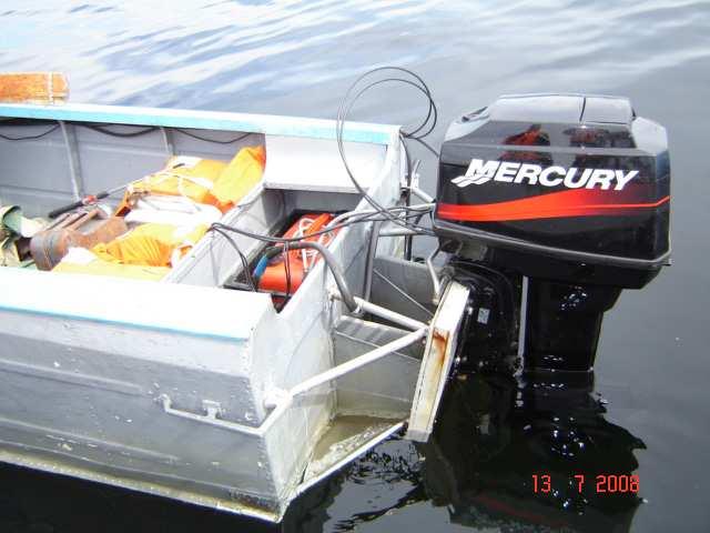 где поставить мотор на лодку