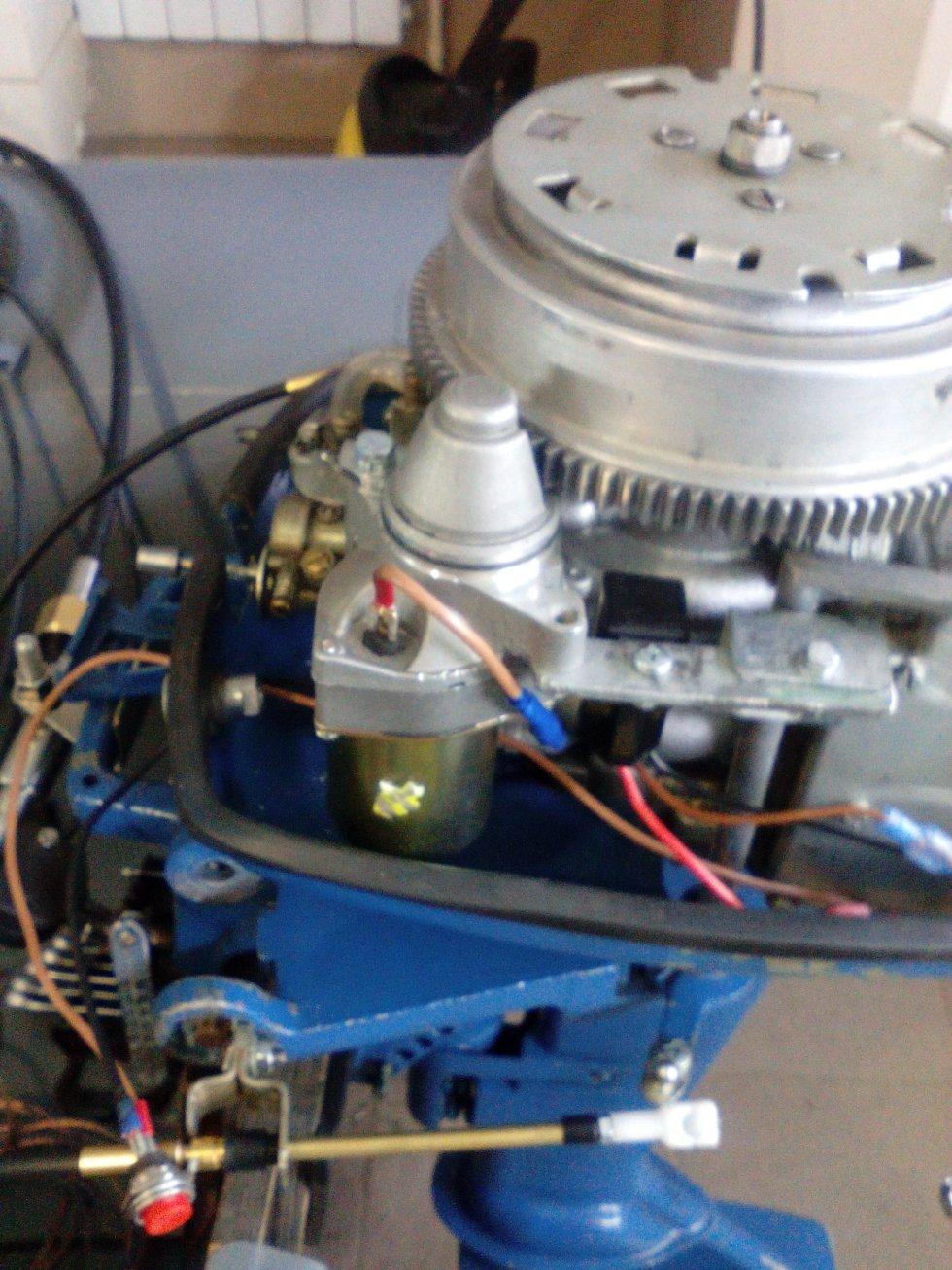 как установить стартер на лодочный мотор ветерок