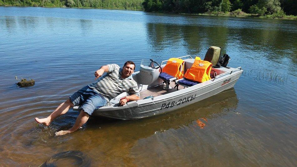 лодка крафтер с консолью