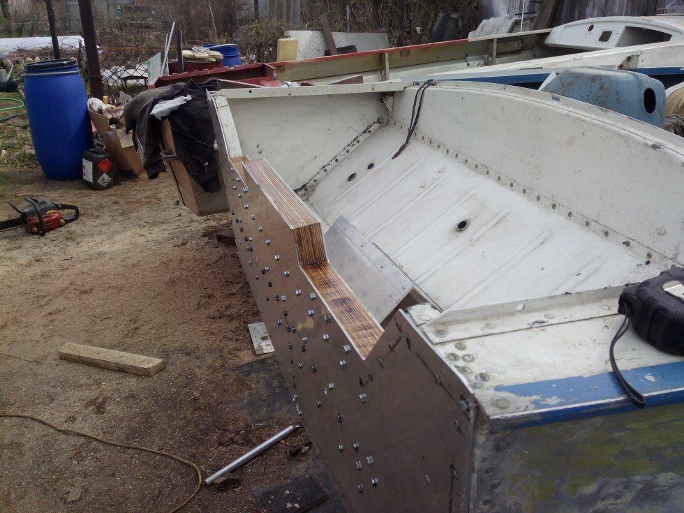 Как усилить транец на лодке ока-4