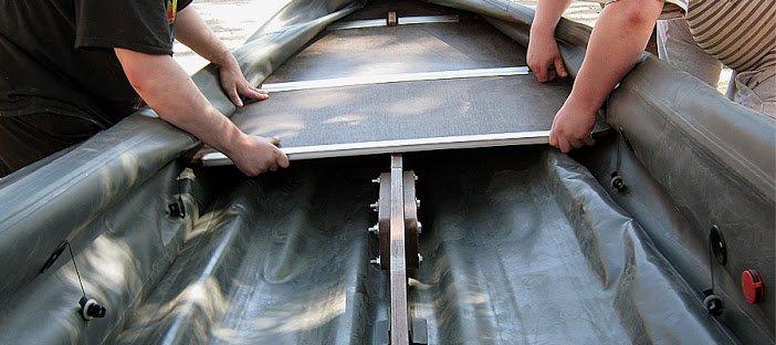 Киль для резиновых лодок