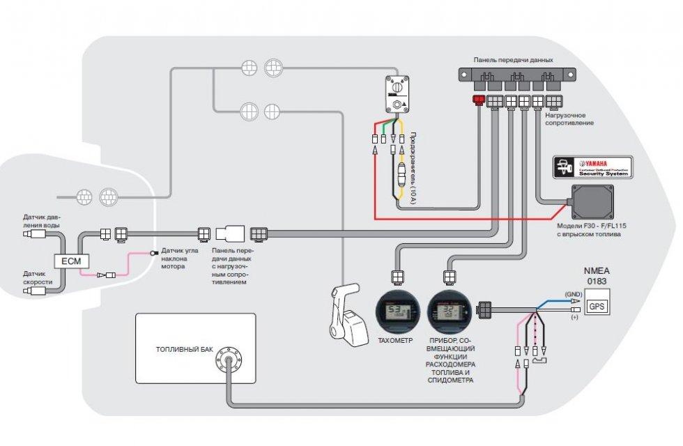 схема подключения аккумулятора на лодочный мотор